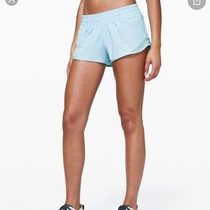 Never worn lululemon 2.5in bitty hot shorts